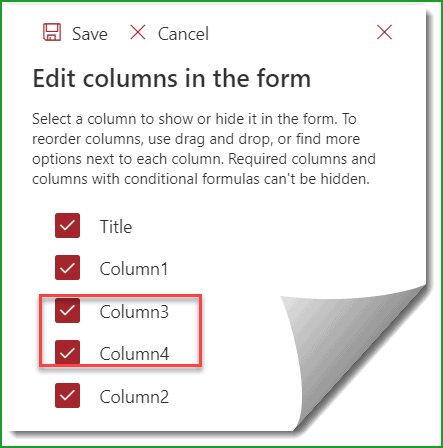 change column order sharepoint online list