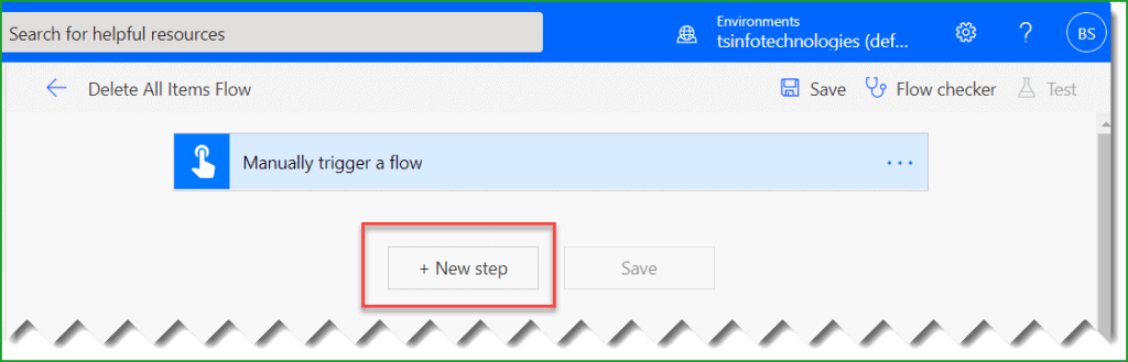 delete all items from sharepoint list flow