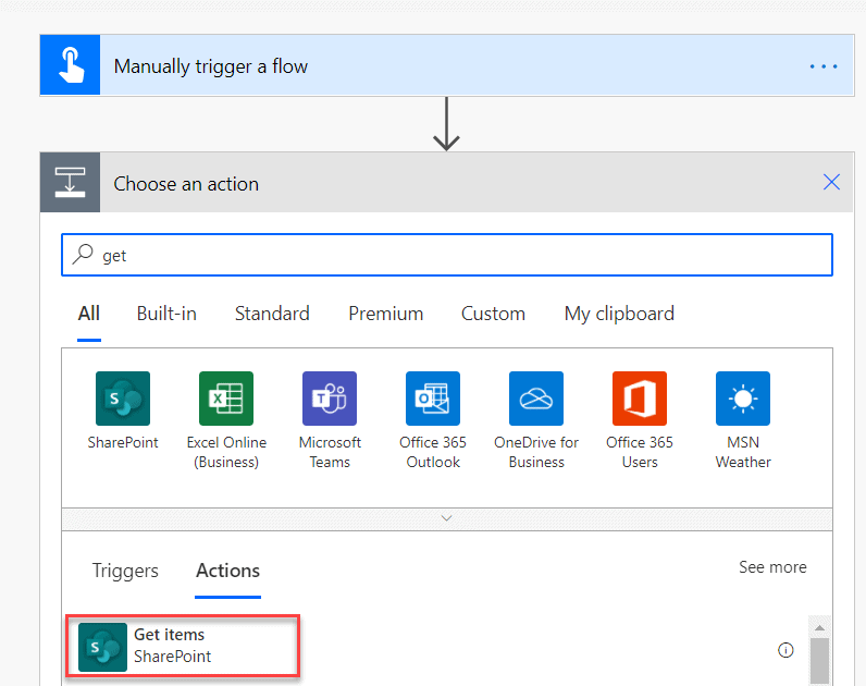 how to delete all items from sharepoint list using flow