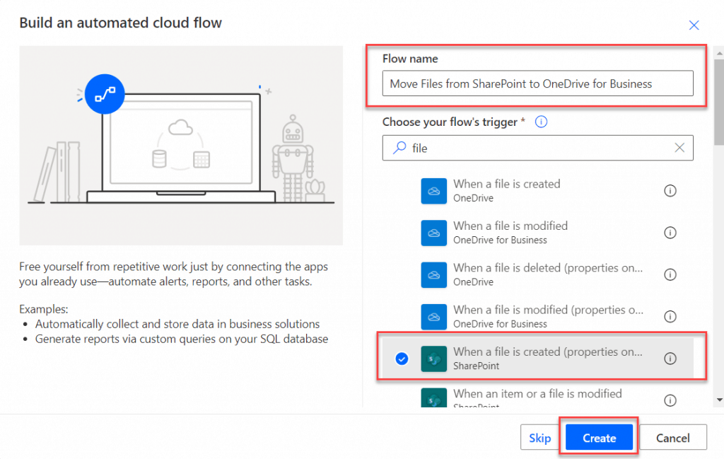 move files from sharepoint to onedrive for business