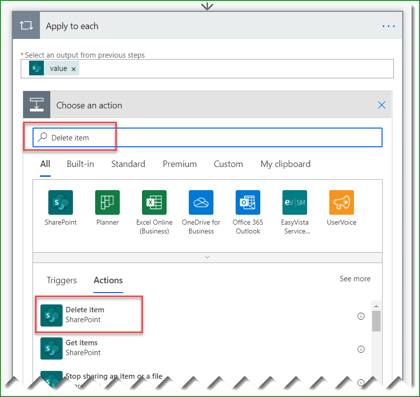 power automate delete all rows in sharepoint list