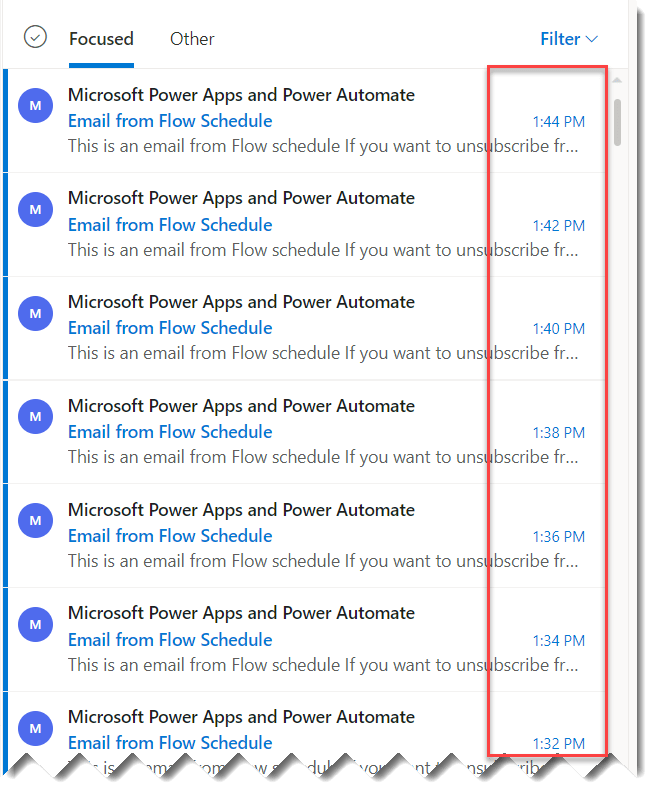 scheduled flow in power automate