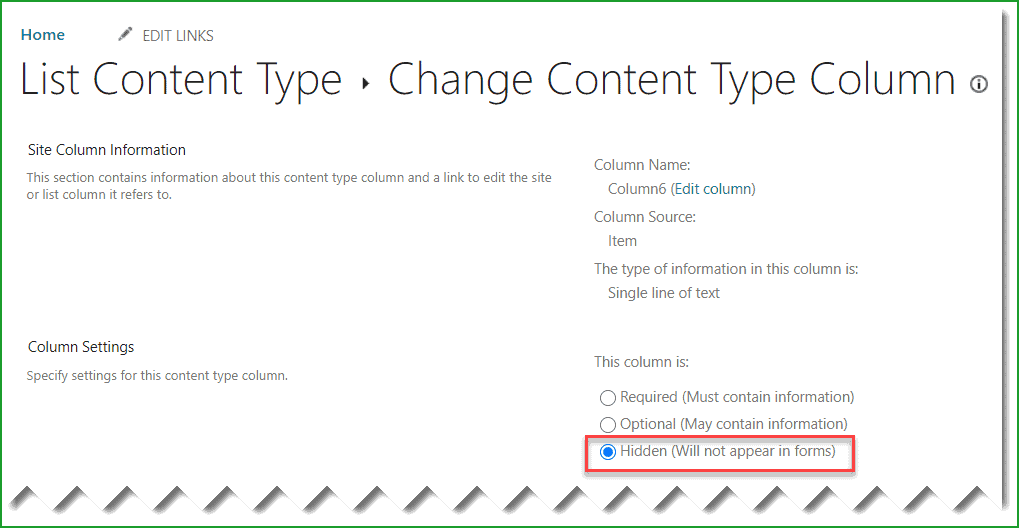 sharepoint 2013 hide column in new form