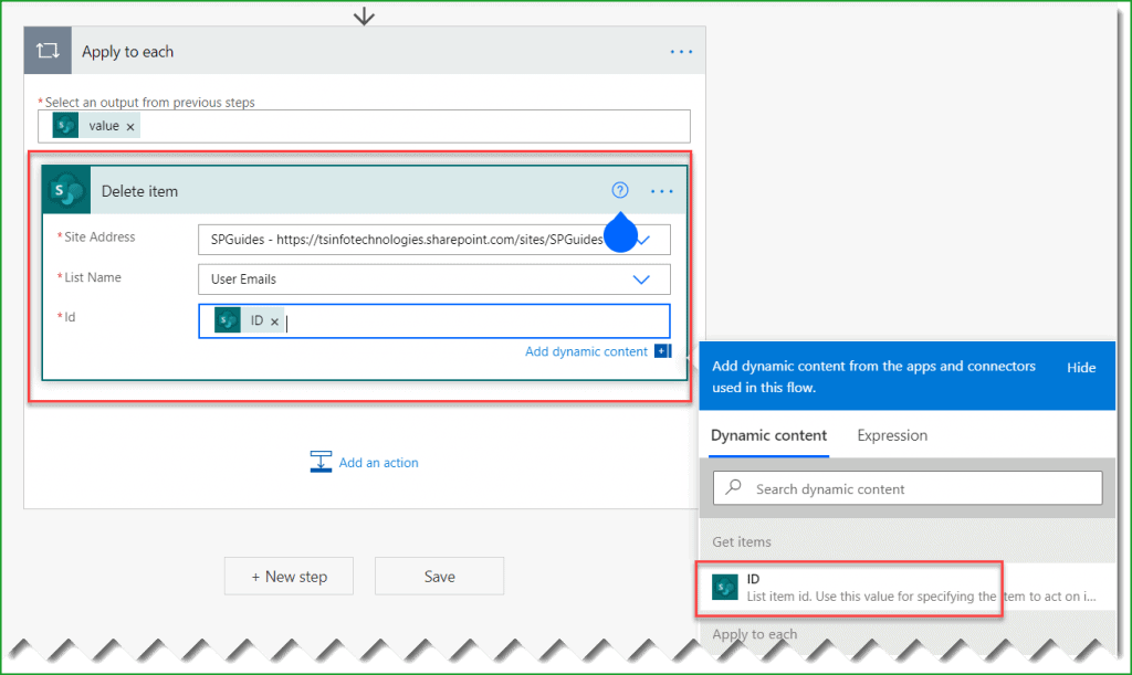 sharepoint list delete all items