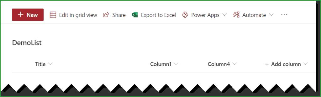 sharepoint online hide columns in list