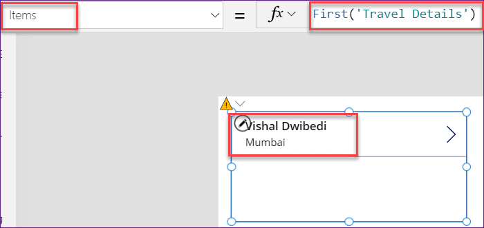 PowerApps First and FirstN Function Examples