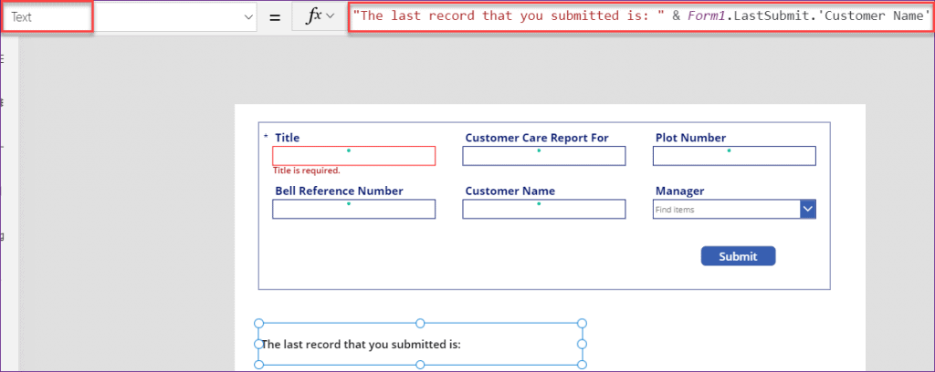 PowerApps LastSubmit function