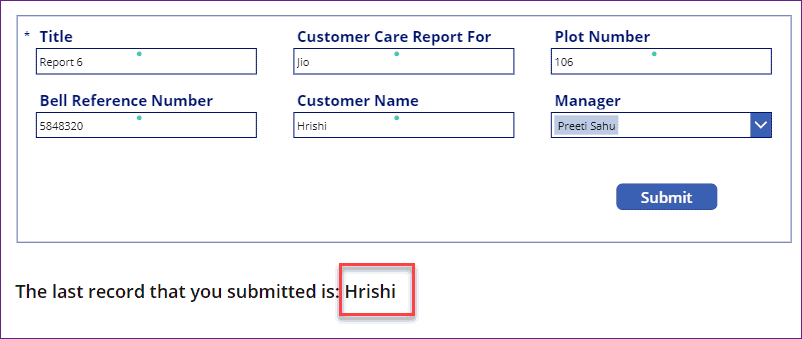 PowerApps LastSubmit