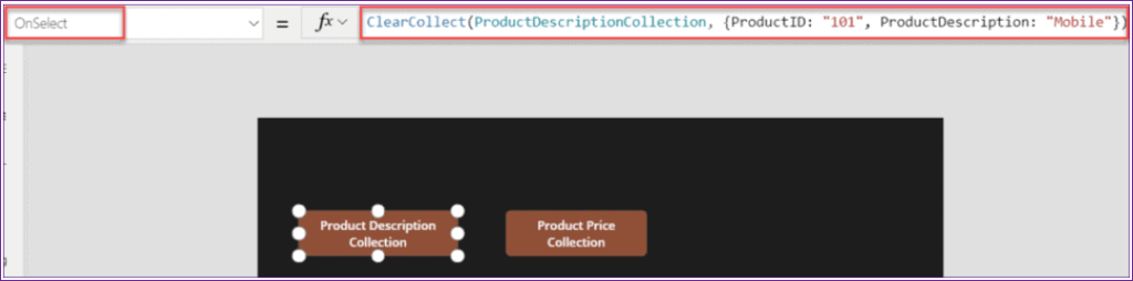 PowerApps addcolumns to collection