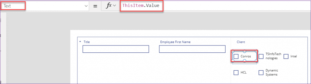 PowerApps checkbox control multiple value