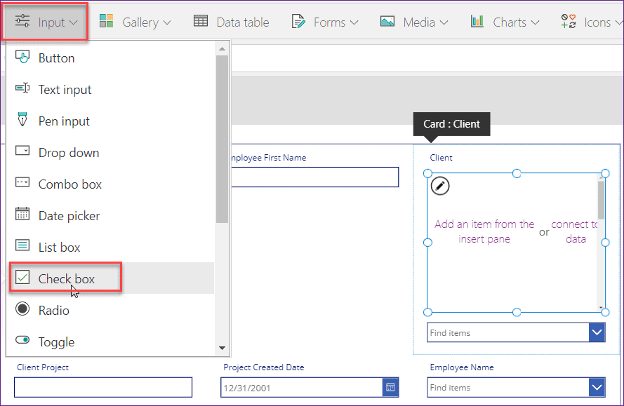 PowerApps checkbox control multiple values
