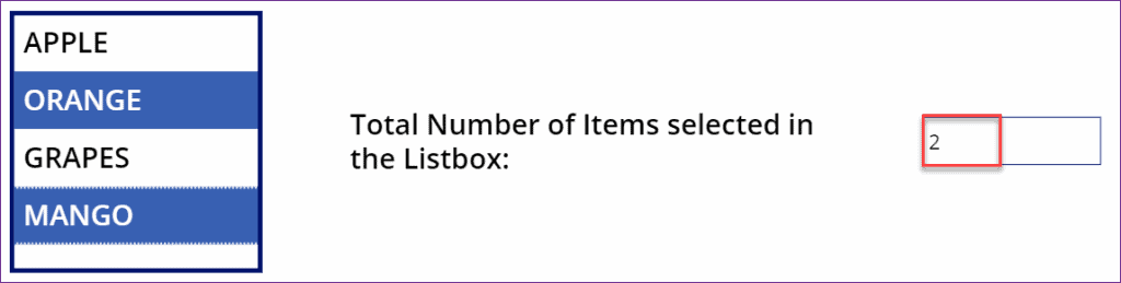PowerApps count item in listbox
