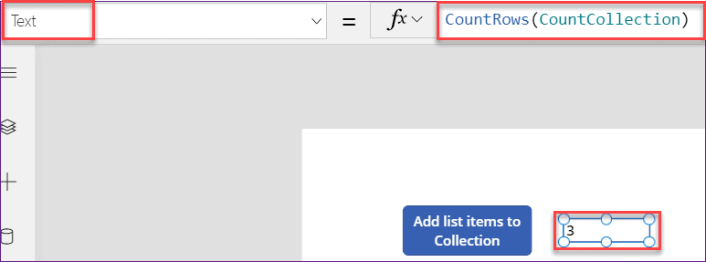 PowerApps count items in collections