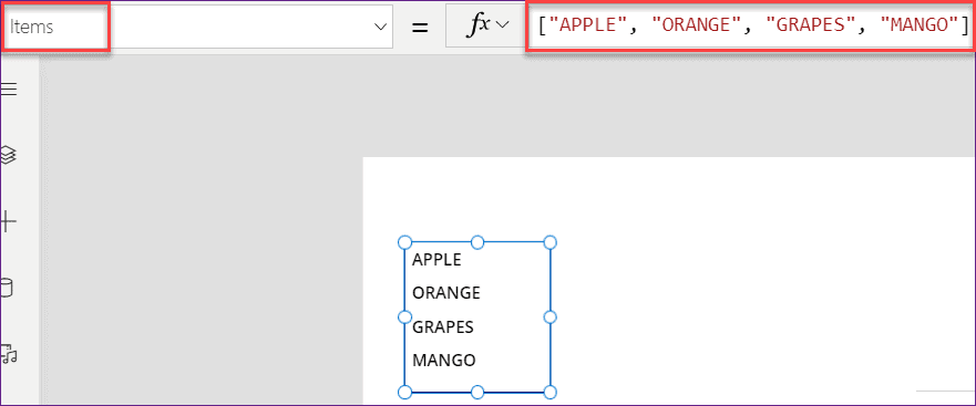 PowerApps count items in listbox