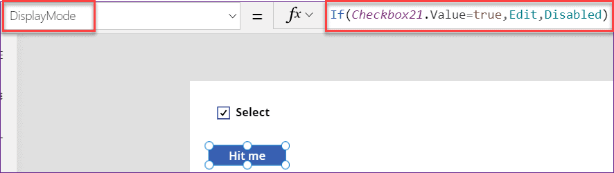 PowerApps if checkbox is checked