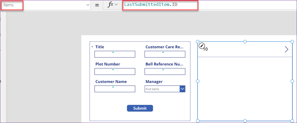 PowerApps lastsubmit is not working