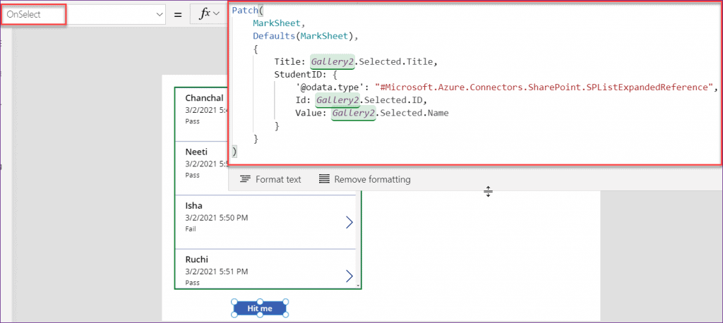 PowerApps patch function lookup
