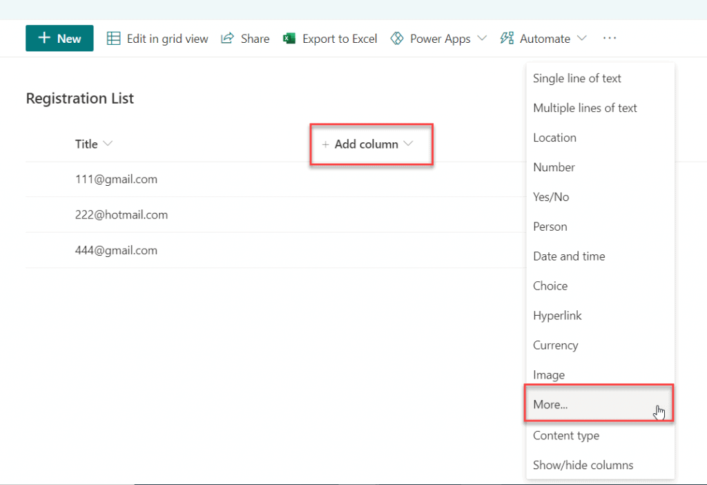 How to create a Calculated Column in a SharePoint list or library