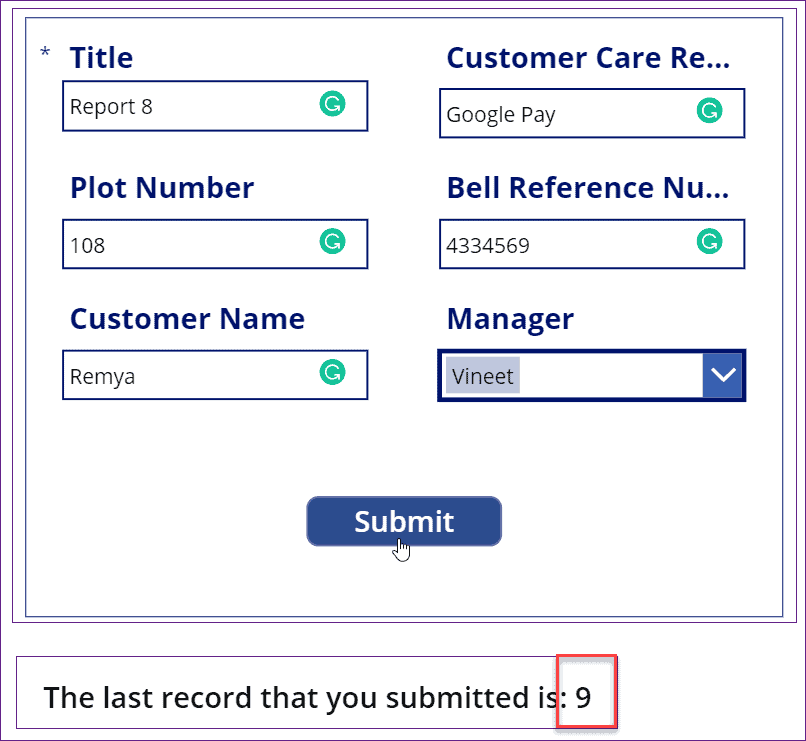 powerapps get last item id
