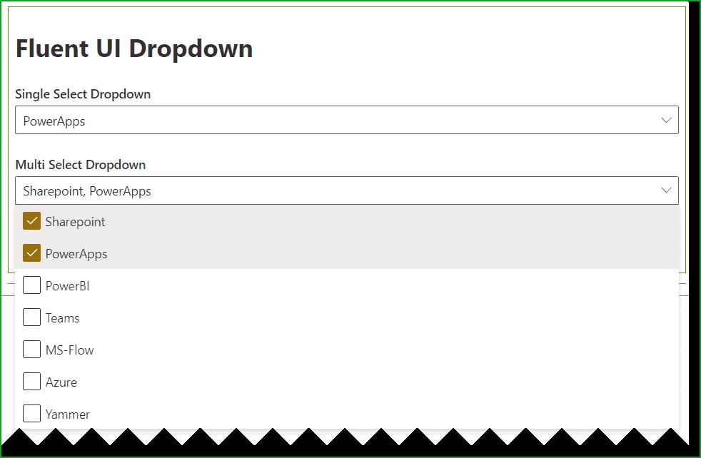 spfx fluent ui react dropdown