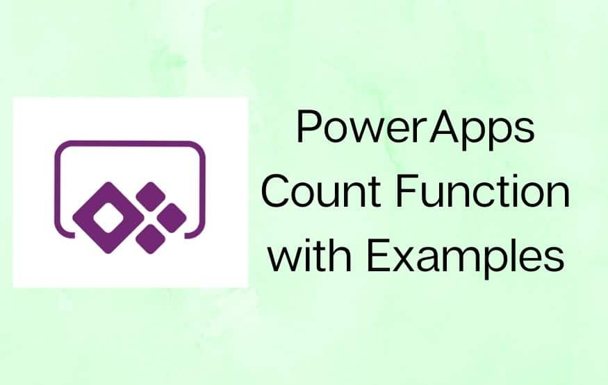 PowerApps Count Function