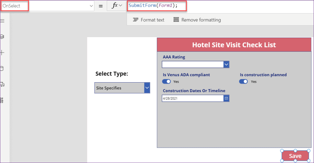 PowerApps Show Hide fields based on dropdown conditions