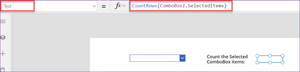 PowerApps count Combo box items