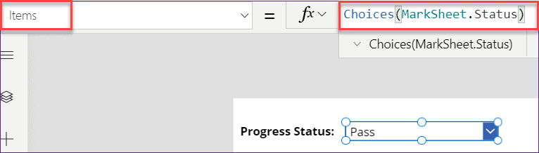 PowerApps count dropdown items