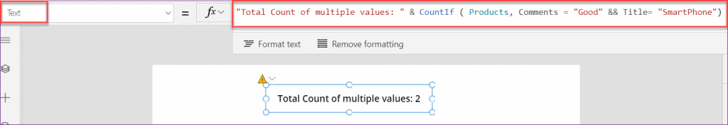 PowerApps countif multiple condition