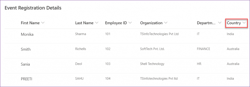 PowerApps countif text