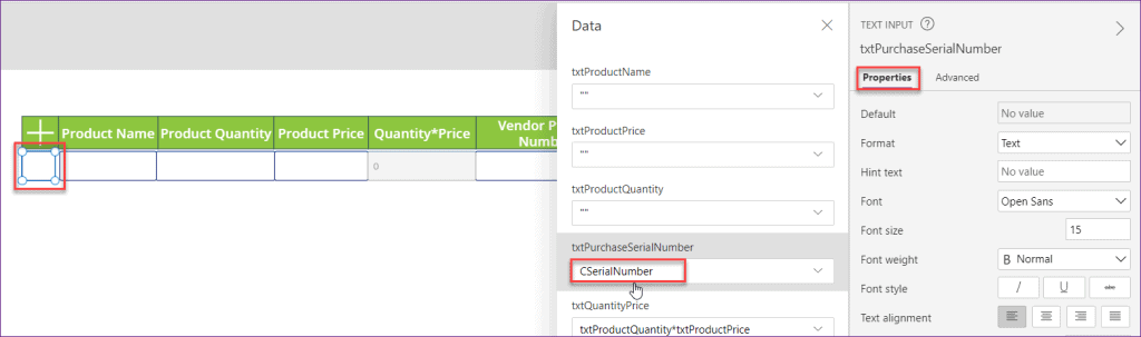 Repeating Rows in PowerApps