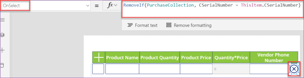 Repeating section in PowerApps