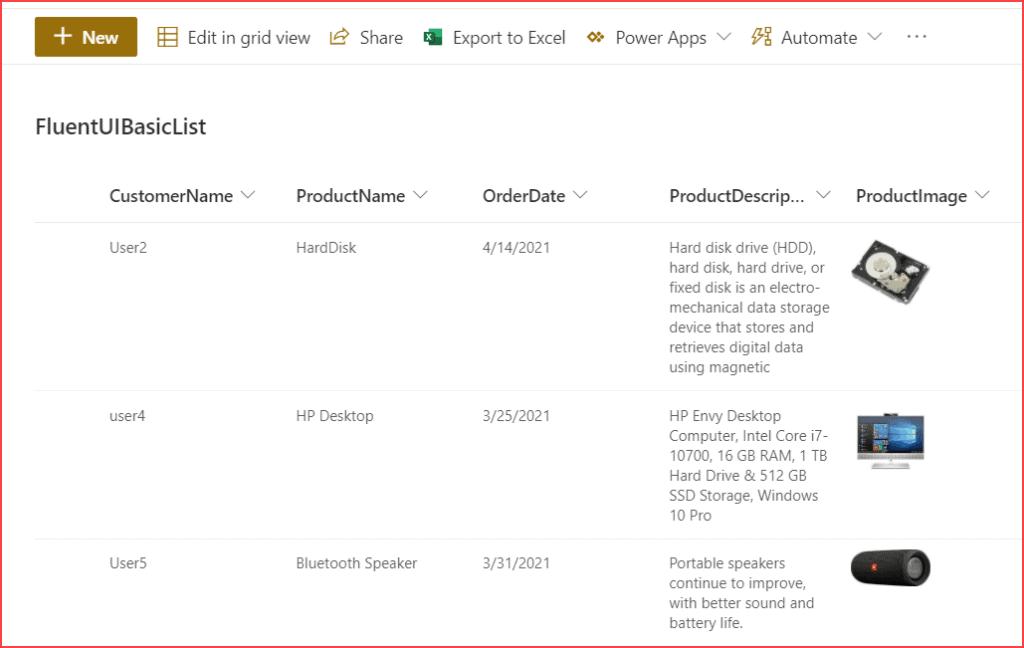 SharePoint Online Basic List Example
