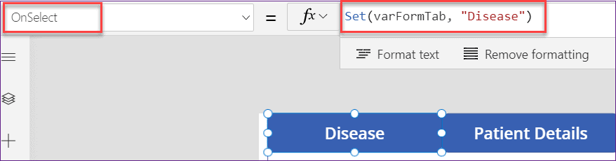how to create tab in PowerApps