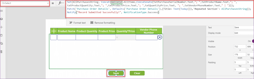 powerapps gallery repeating
