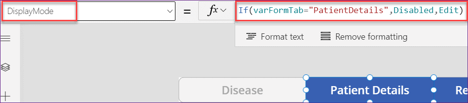 powerapps create tabbed form from excel