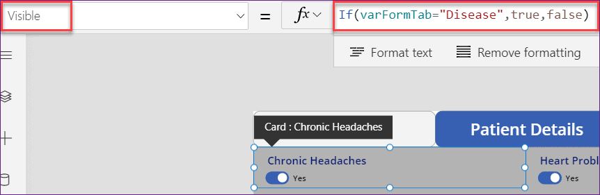 powerapps create tabbed form from list