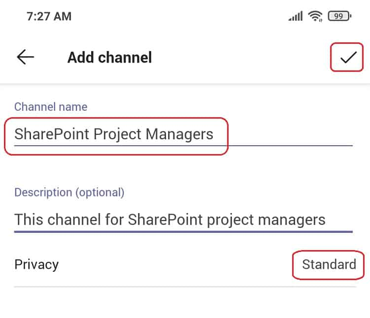How to Add channel in Microsoft teams mobile app