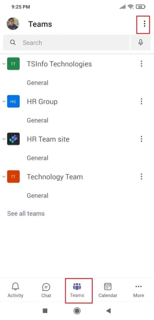 Create a team in Microsoft teams mobile app