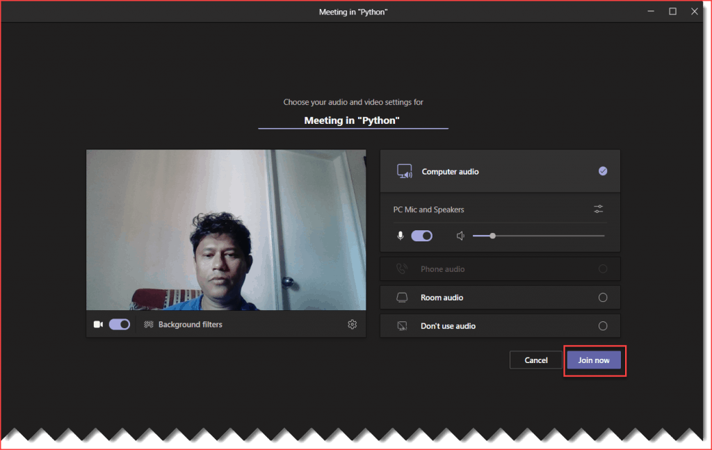 How to start a video call in Microsoft Teams