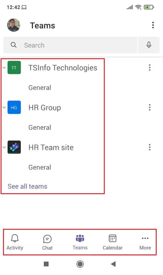 How to use microsoft teams mobile app