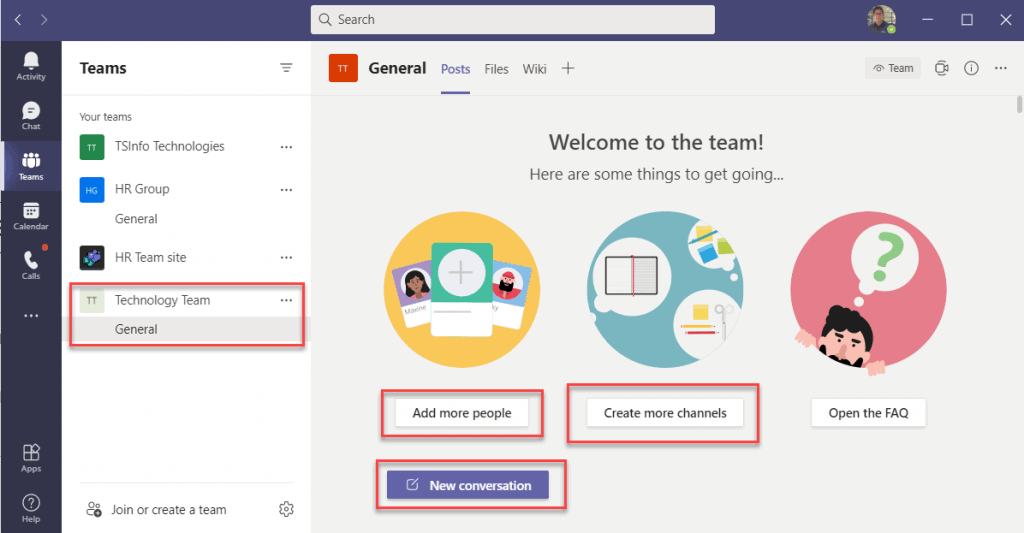 Microsoft teams how to create a team