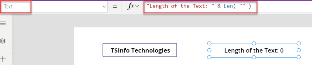 PowerApps Len Function example