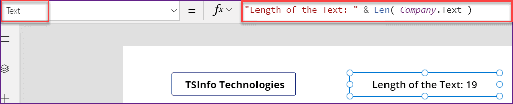 PowerApps Len Function examples