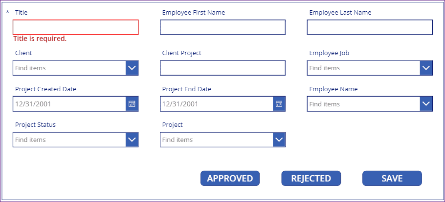 PowerApps button onselect update sharepoint list