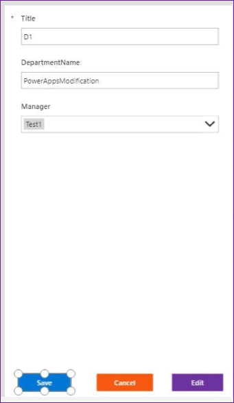 PowerApps cancel button onselect