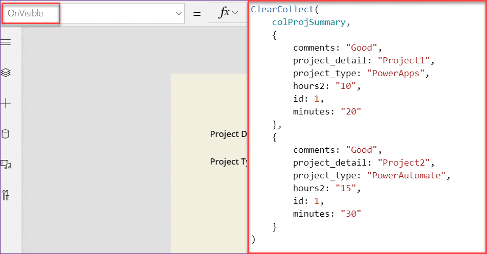 PowerApps dropdown choices from collection