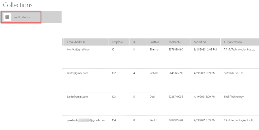 PowerApps length of collection