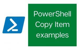 PowerShell copy item