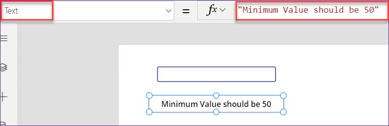 minimum length in PowerApps